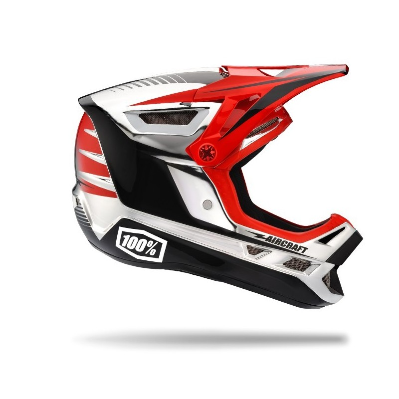 Racecraft Casco integrale Twinblaze Chrome 100%