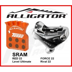 Pastiglie Sram Level Red Rival Turbo Semi Metal Alligator
